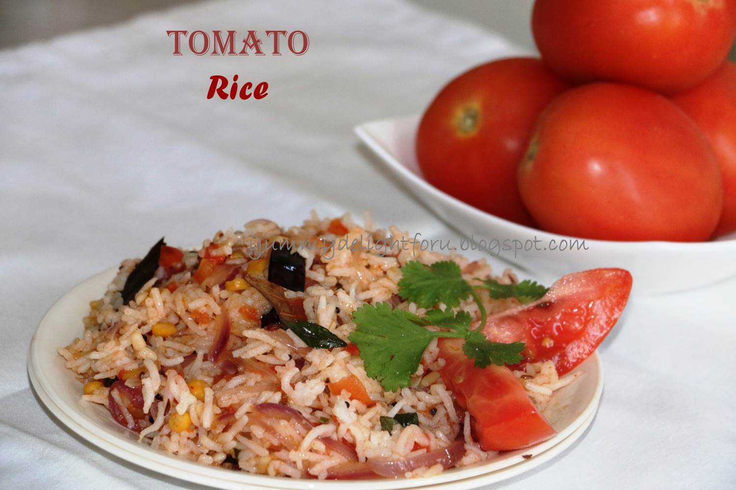 Yummy delight for u tomato rice recipe how to make tomato fried rice my mother made this tomato rice pretty often especially when there was a time constraint andor there was leftover rice quick to put together easy ccuart Choice Image