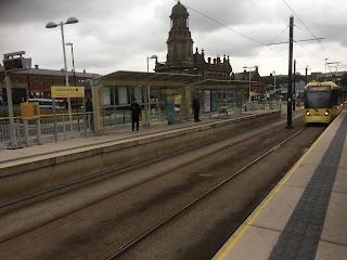 Tram at Oldham Mumps