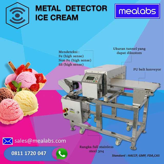 metal detector ice cream