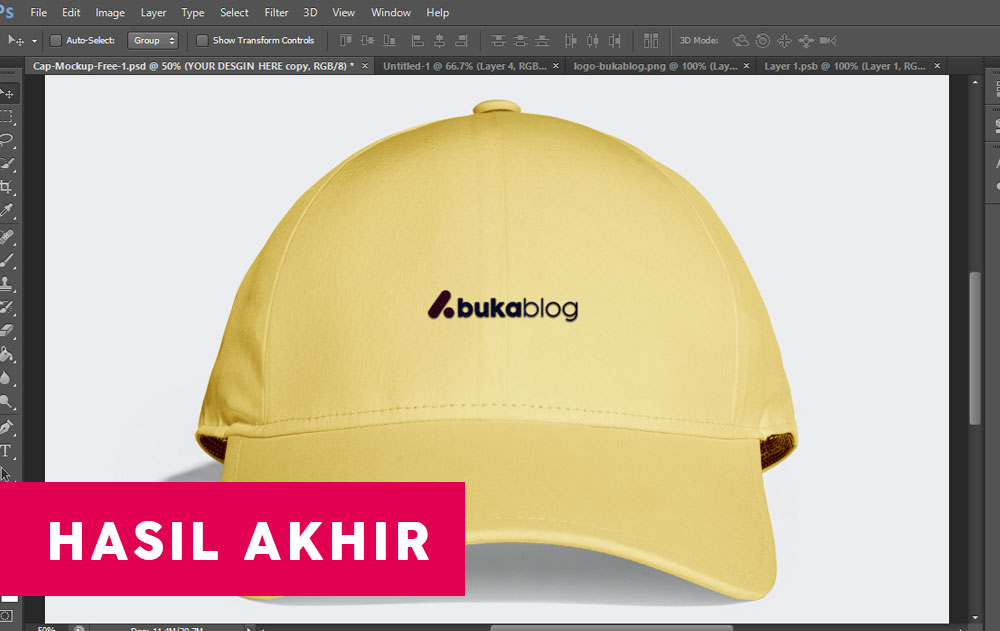 Download Mockup Topi Gratis Bordir dan Sablon