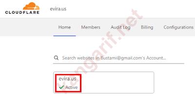 klik pada nama domain