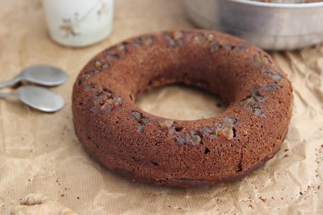 Cuillère et saladier : Gâteau chocolat, gingembre et miso (vegan)