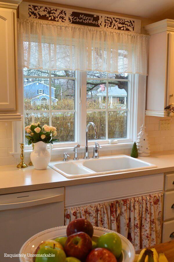 Christmas Kitchen Decor DIY Gift Bag Sign Over Sink