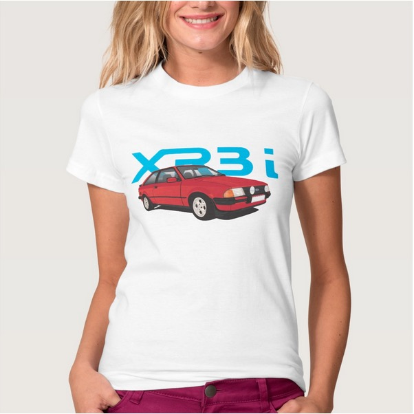 Ford, escort, mk3, xr3, 80's, t-shirt