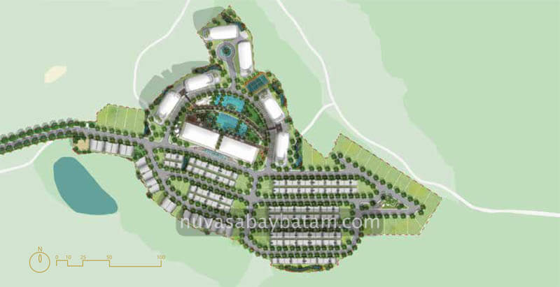 The Nove Nuvasa Bay Batam Site Plan