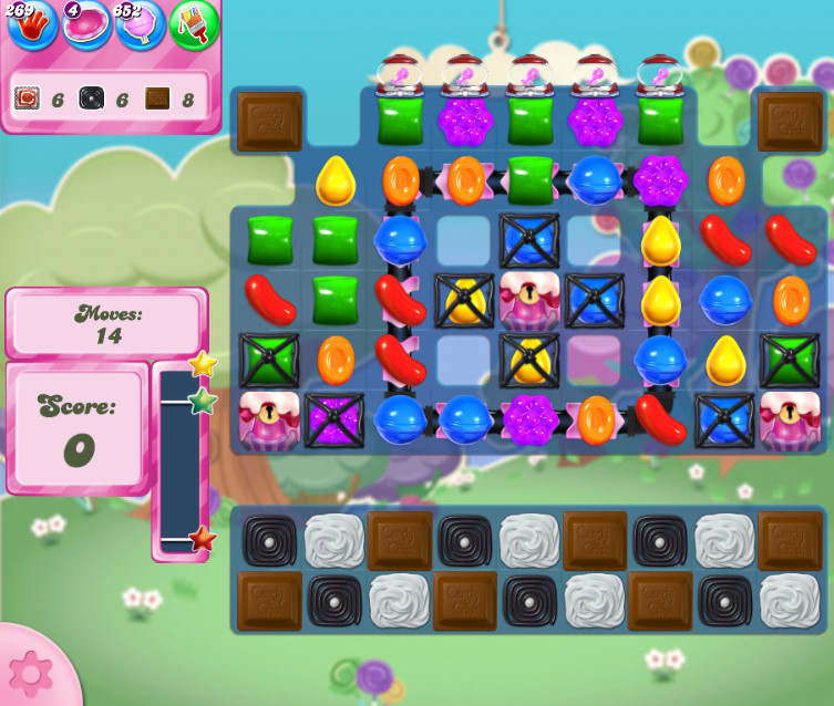 Candy Crush Saga level 2672