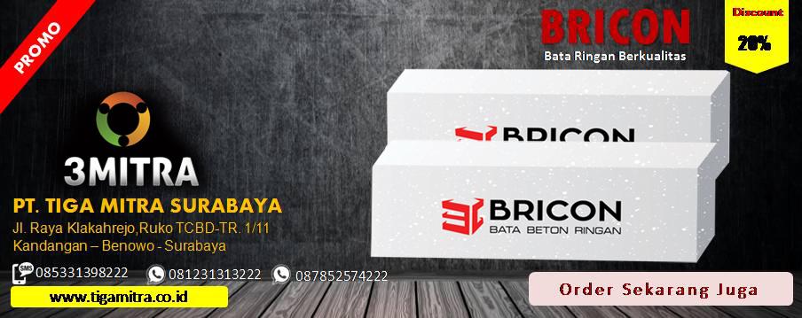 Jual Bata Ringan Bricon di Surabaya, Sidoarjo, Gresik