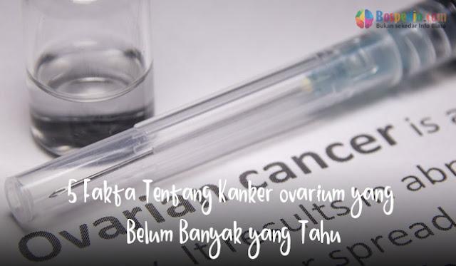 Kanker ovarium mempengaruhi seperempat juta wanita di seluruh dunia setiap tahunnya 5 Fakta Tentang Kanker ovarium yang Belum Banyak yang Tahu