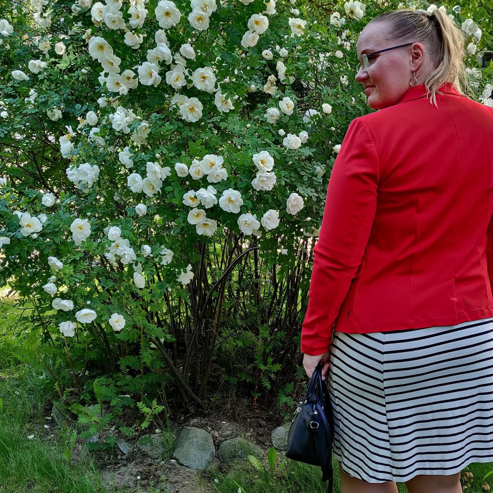 Raitamekko ja punainen jakku