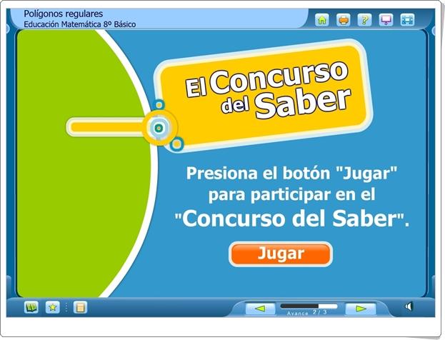"""El Concurso del Saber: """"Polígonos regulares"""" (Juego de Geometría de Secundaria)"""