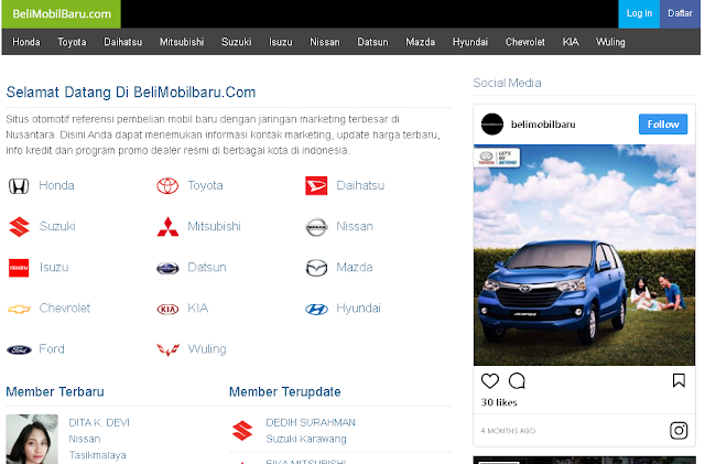 Situs Info Harga Mobil Baru Murah Terpercaya