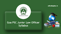 Goa PSC Junior Law Officer syllabus