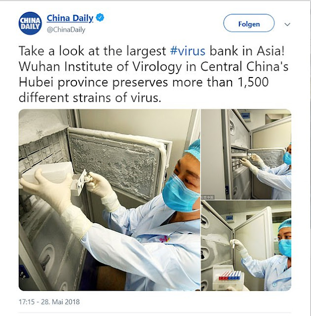China daily tweet that created the virus origin debate