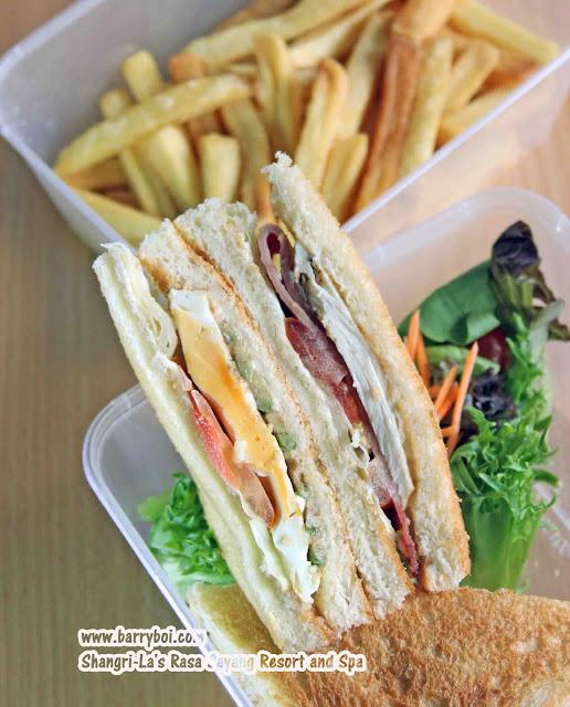 Shang Shack Drive-thru Pick Up by Shangri-La's Rasa Sayang Resort & Spa Penang Hotel Blogger Influencer Malaysia Makan Sedap Delicious Food Club Sandwich