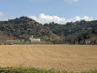Plowed fields in Valle d'Astino.