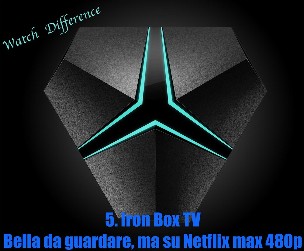 Iron TV Set Top Box ottimo per Netflix dal bel design