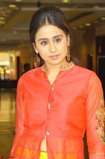 Simrat in Orange Anarkali Dress 07.JPG