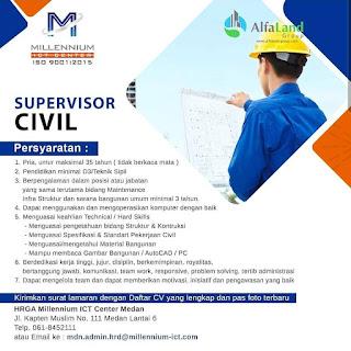 Supervisor Civil di Millenium ICT Center Medan
