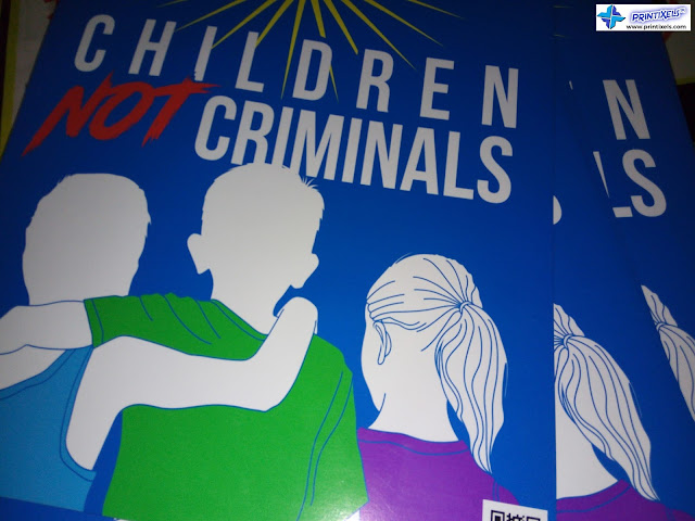 Customized Promotional Magnets - Children Not Criminals