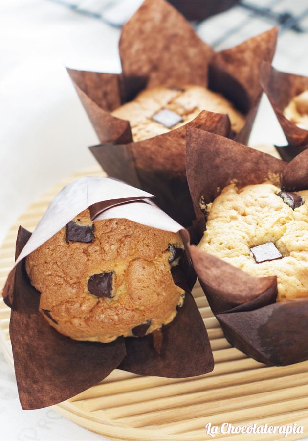 Muffins de mantequilla de cacahuete y chocolate