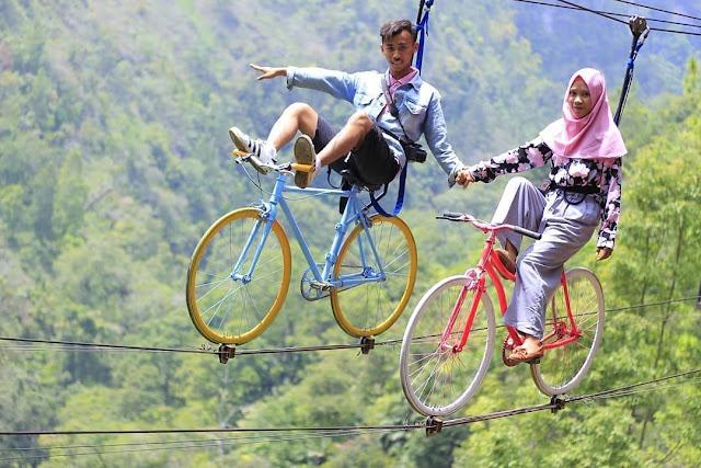 Spot foto Sky bike wisata Genilangit Magetan