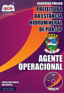 Apostila Prefeitura de Poá-SP - Agente Operacional