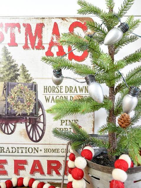 Vintage inspired Dollar Tree Christmas bulbs