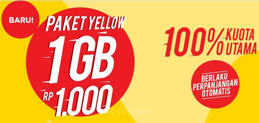 Cara Daftar Paket Indosat IM3 1 Gb Rp 1000 Paket Yellow