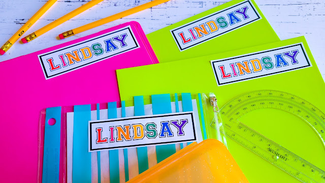 print and cut, stickers, back to school, name labels, home printer