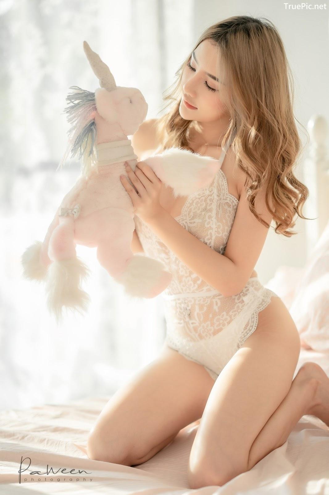 Image Thailand Model - Atittaya Chaiyasing - White Lace Lingerie - TruePic.net - Picture-15