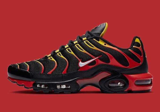 O Nike Air Max Plus recebe uma nova colorway em gradiente