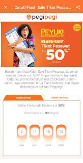 Flash sale Pegipegi Promo tiket pesawat