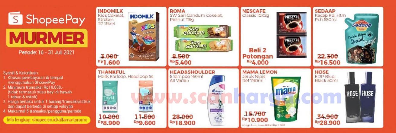 Promo Alfamart ShopeePay Murmer Periode 16 - 31 Juli 2021