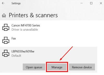 Cara merubah default printer di windows 10