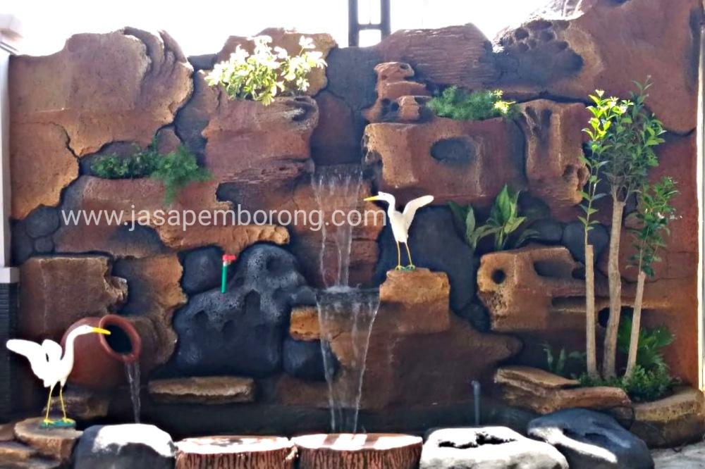 Jasa Tukang Relief Tebing Klaten | Jasa Pembuatan Kolam Dekorasi Air Terjun di Klaten