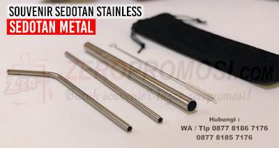 sedotan stainless yang ramah lingkungan, Reusable Drinking Straw, Bending Straw Stainless Steel, Sedotan Metal Ramah Lingkungan