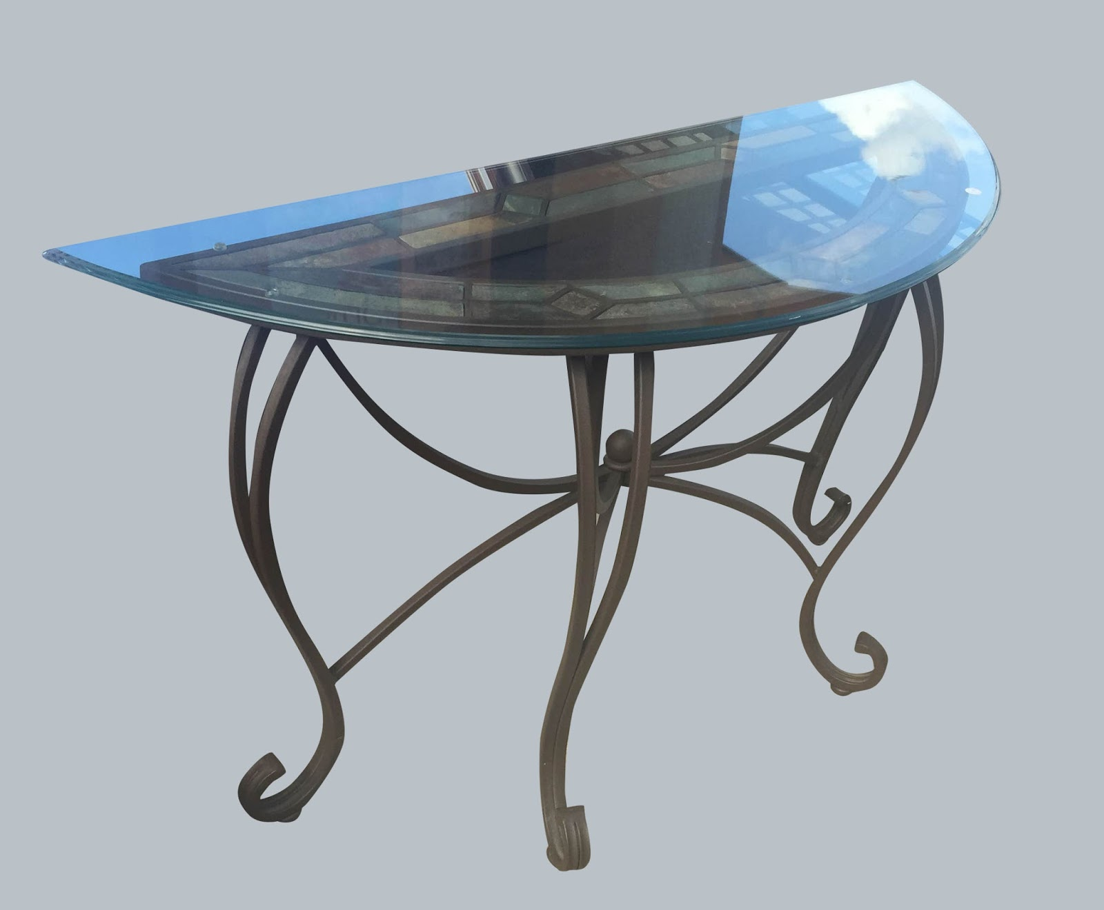 Uhuru furniture collectibles demi lune table 85 sold for Cie no 85 table 4