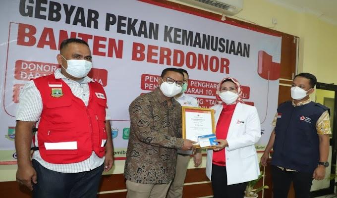 Pendonor Darah Sukarela dapat Apresiasi dari PMI Banten