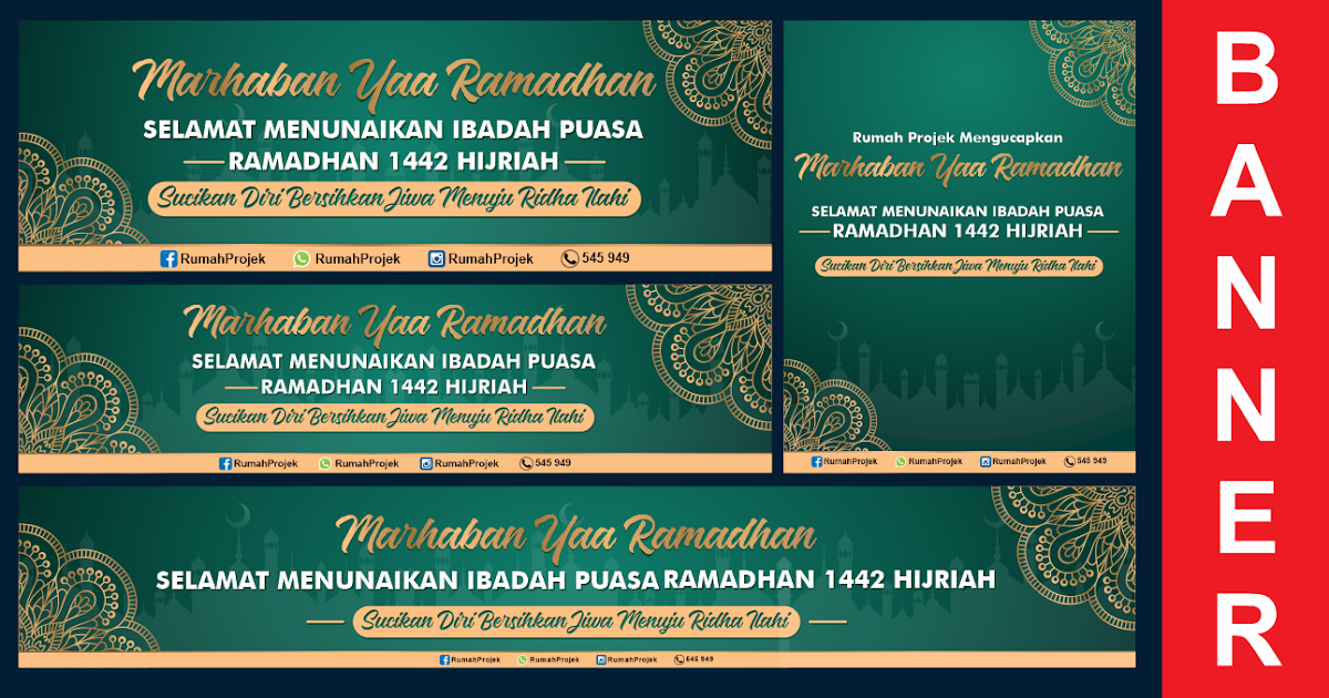 Download Contoh Spanduk Ramadhan CDR gratis - TEMPLATEKITA.COM