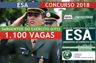 Concurso ESA 2018 Sargentos do Exército (CFS)