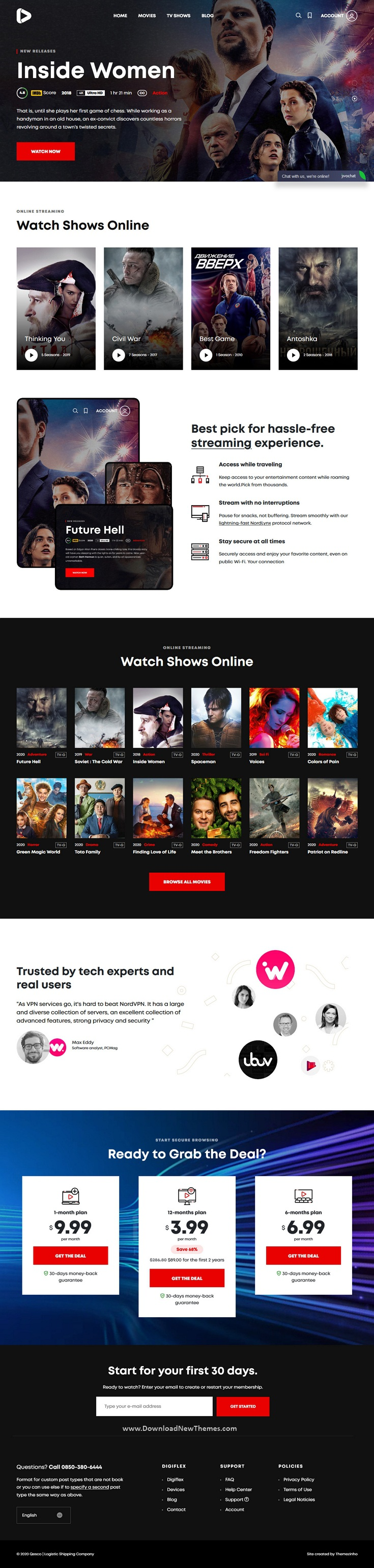 Online Movie Streaming WordPress Theme
