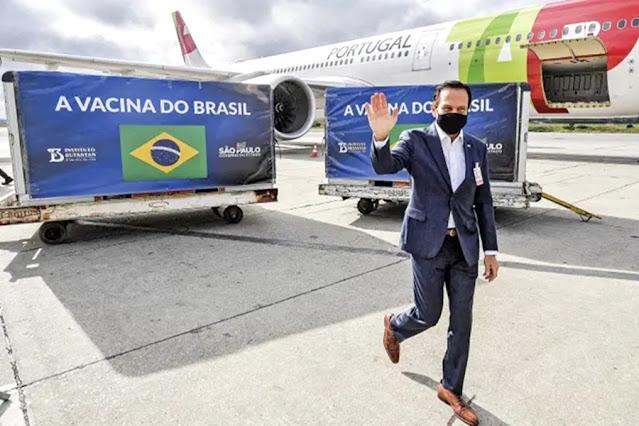 Doria antecipa entrega de 100 milhões de doses de vacinas para todo Brasil