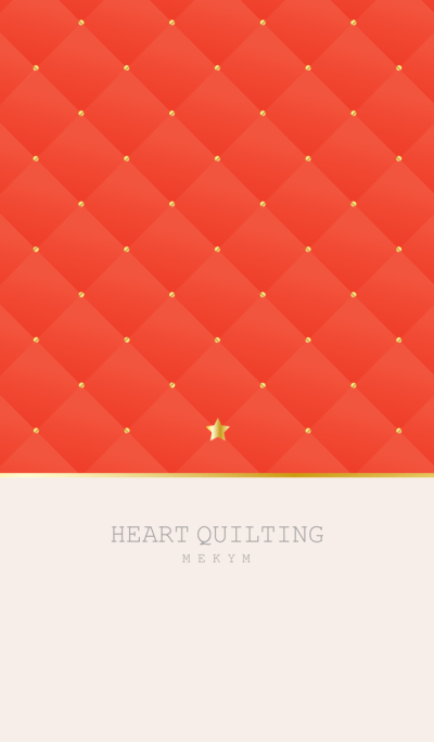 STAR QUILTING -RED- 2