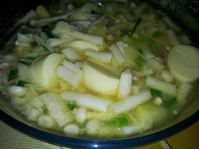 Sup Cendawan Tauhu Telur