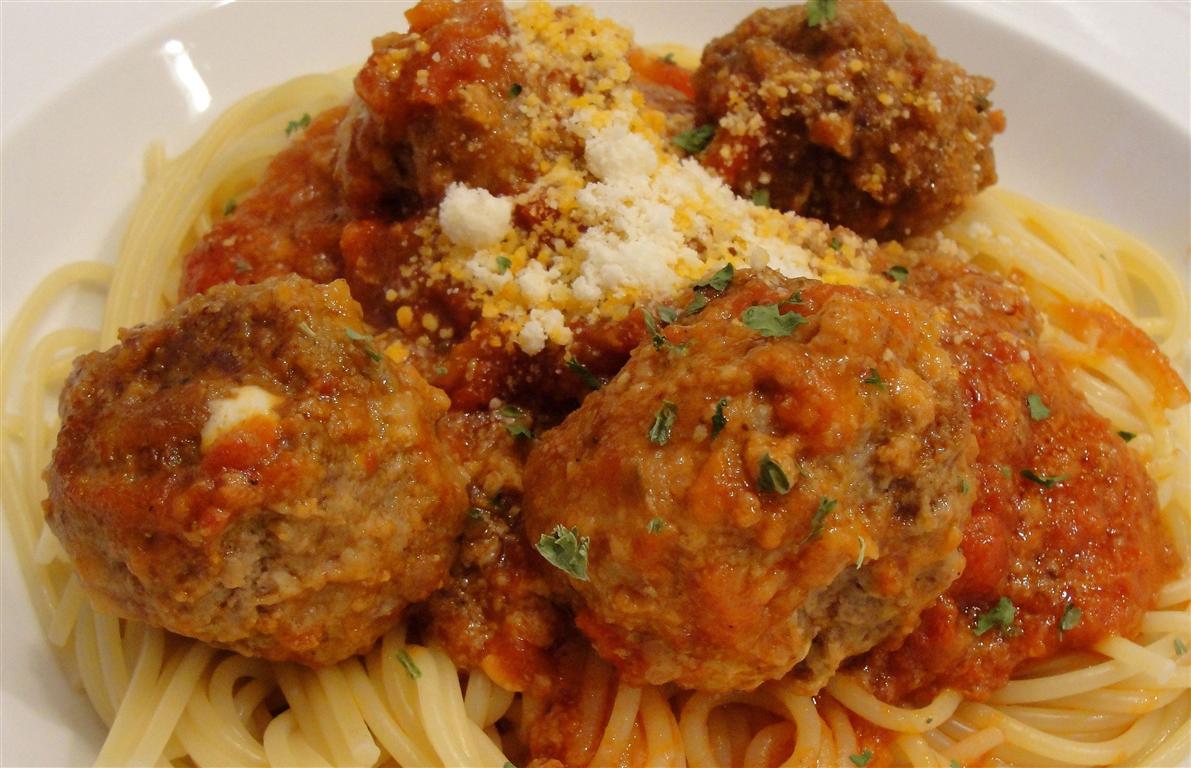 Mozzarella Stuffed Meatballs Recipe Food Network