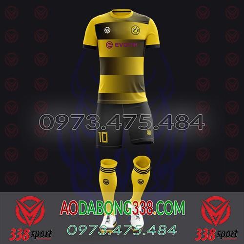 May Áo Đá Bóng Theo Yêu Cầu Mã Dortmund-04