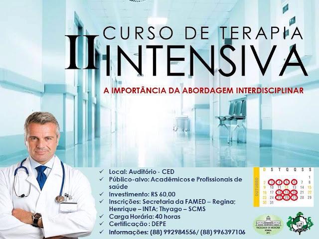 II Curso de Terapia Intensiva - organizado pela 16ª Turma do Curso de Medicina de Sobral da UFC (Divulgação)