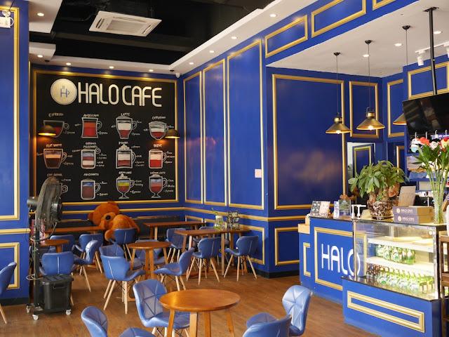 inside Halo Cafe in Guzhen