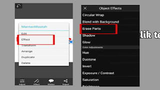 cara membuat teks 2 warna lewat hp di picsay pro