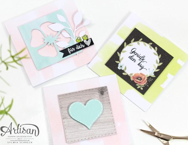 Kartenset Grüße wie gemalt-Stampin up